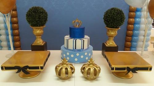 kit decoração, festa infantil, coroas, vaso grego