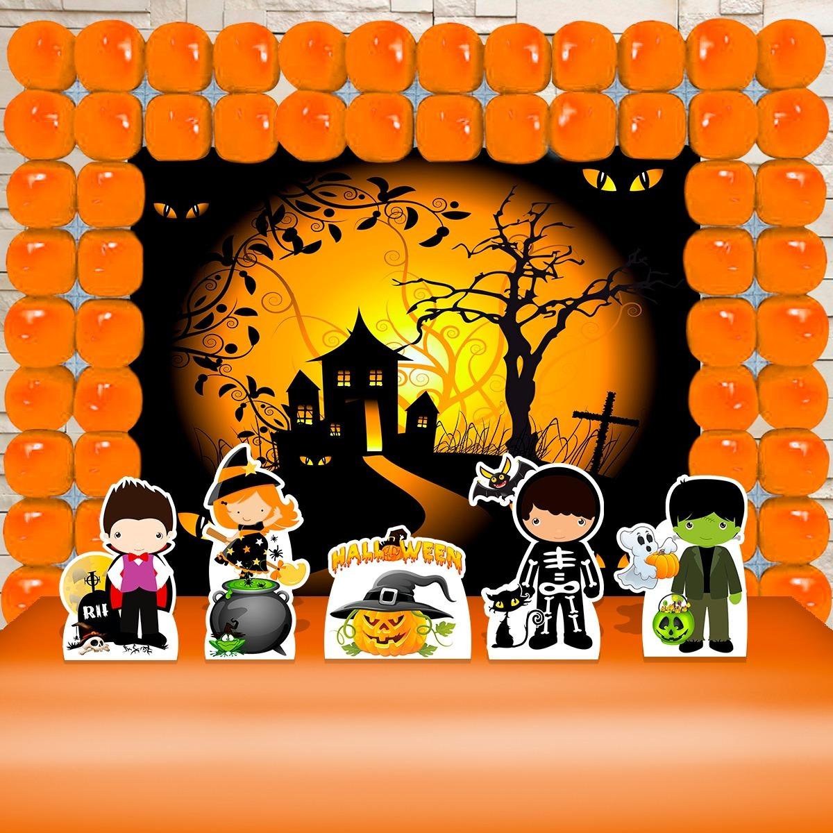 Kit Decoracao Festa Infantil Halloween Bruxas Frete Gratis R