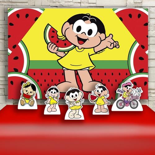 kit decoração festa infantil magali cenários kit prata