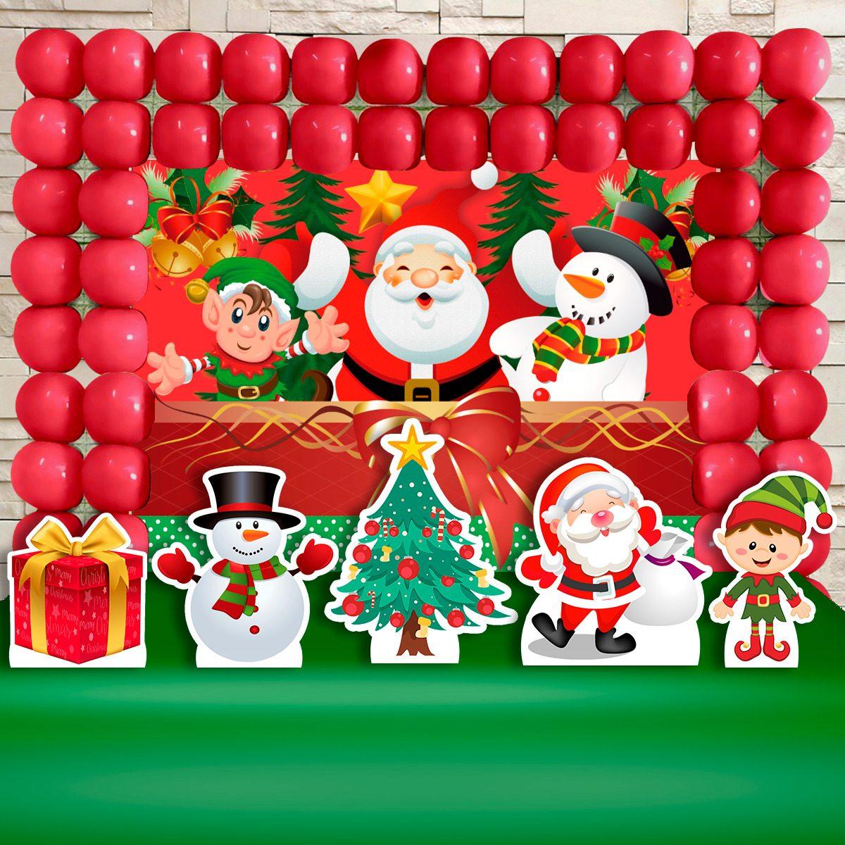 Kit Decoracao Festa Infantil Natal Papai Noel Frete Gratis R