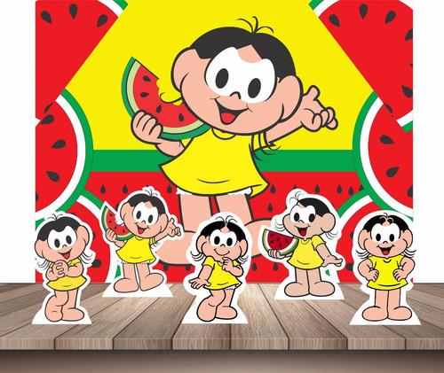 kit decoração festa infantil painel + displays mesa magali