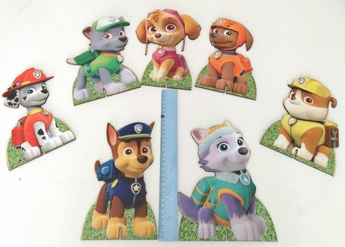 kit decoração festa infantil patrulha canina - bronze