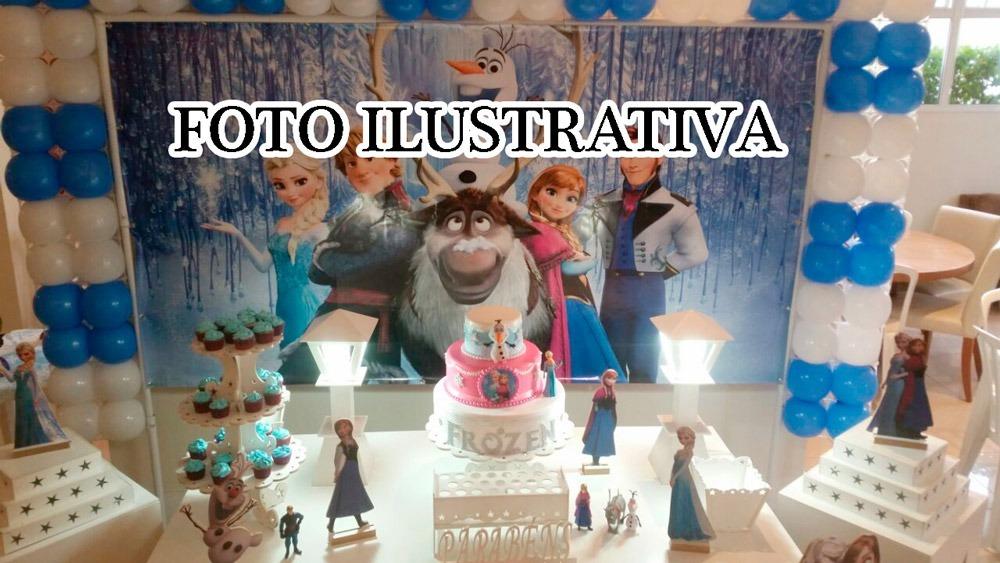 Kit Decoração Mesa Festa Infantil Aniversario Frozen R 37000 Em