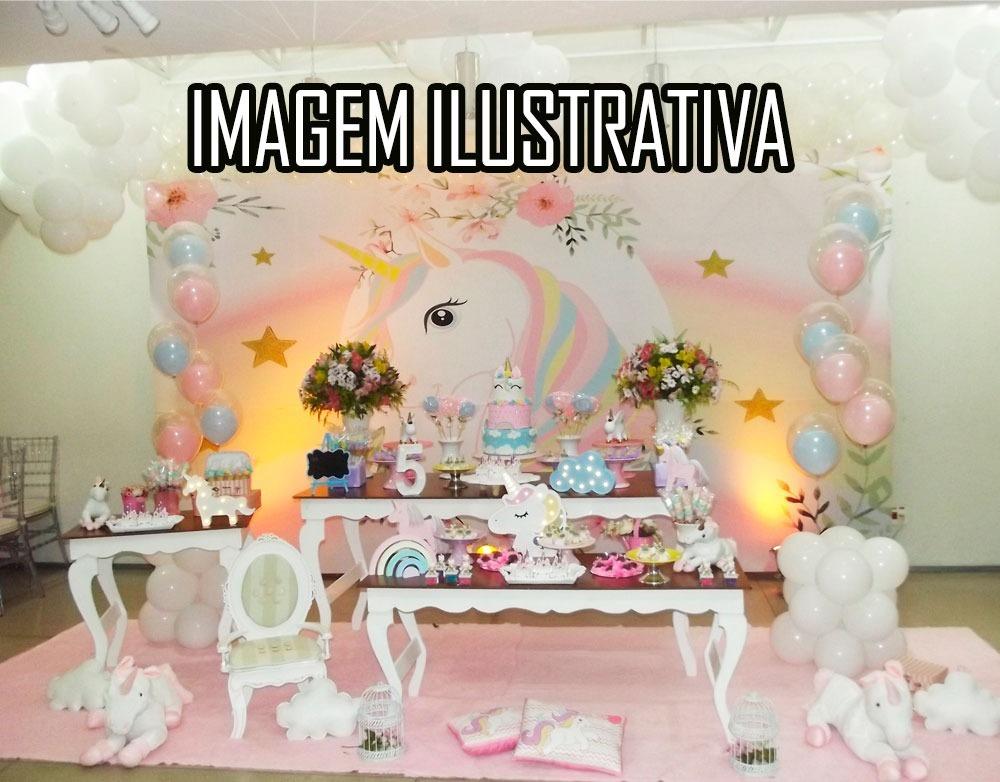 Kit Decoração Mesa Festa Infantil Aniversario Unicórnio R 37000