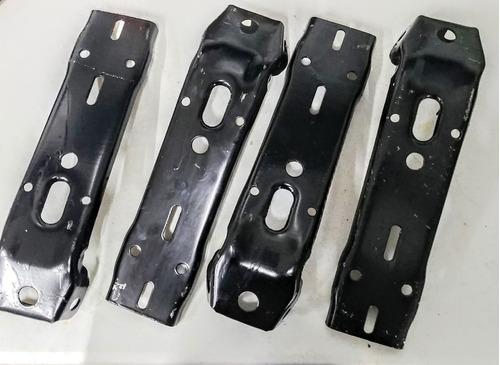 kit defensas cromadas delgadas c/ bracks vw sedán vocho