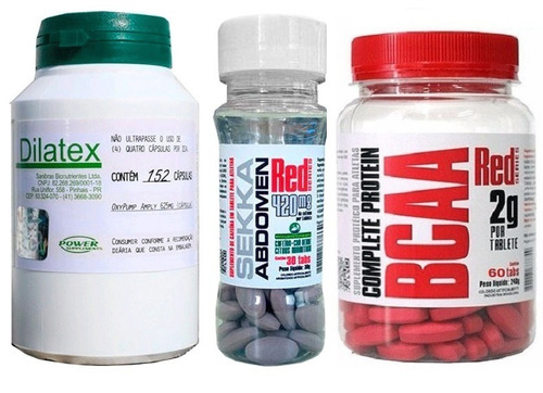 kit definição dilatex+ sekka abdomen+ bcaa 2g | frete grátis