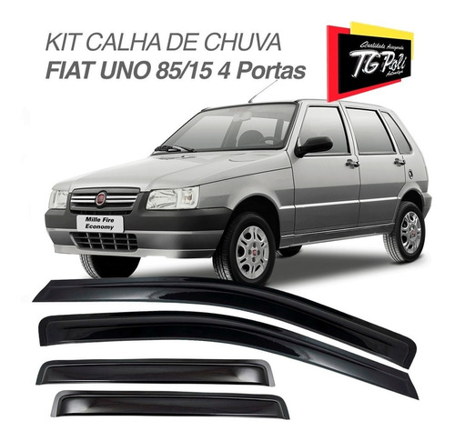 kit defletor calha de chuva fiat uno mille 85 a 15 4 portas