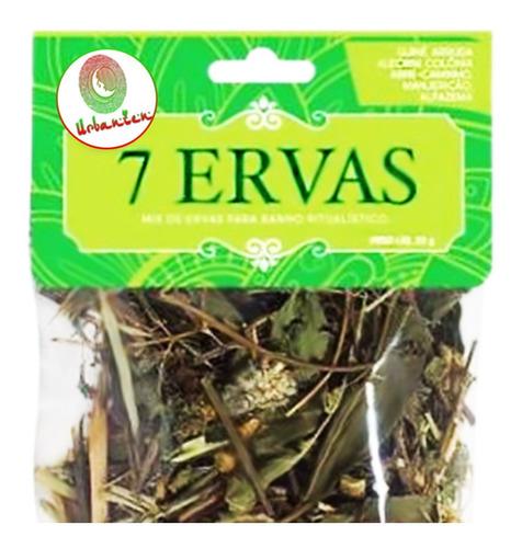 kit defumação 7 ervas + turibulo limpeza contra inveja cura