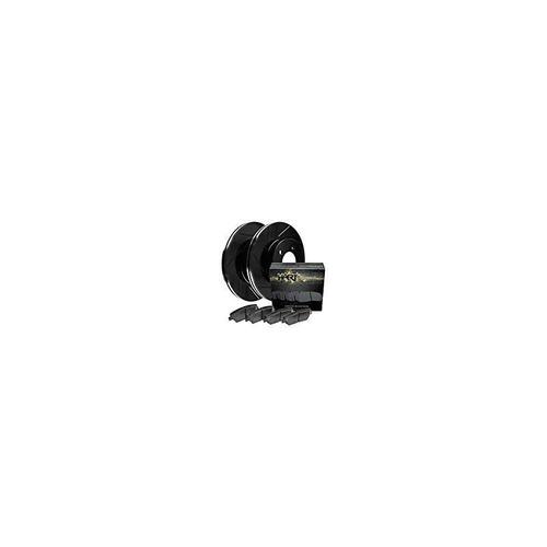 [kit delantero] rotores de freno de disco negro hart slotted