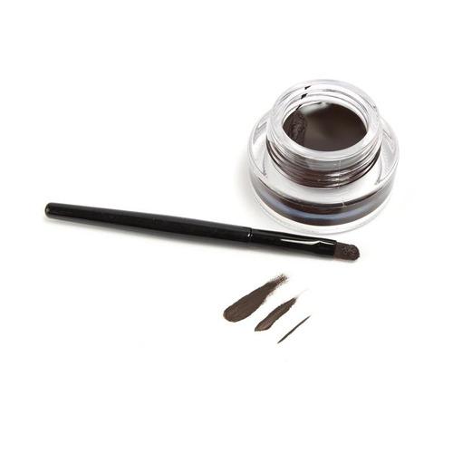 kit delineador en gel negro + cafe + pinceles larga duracion