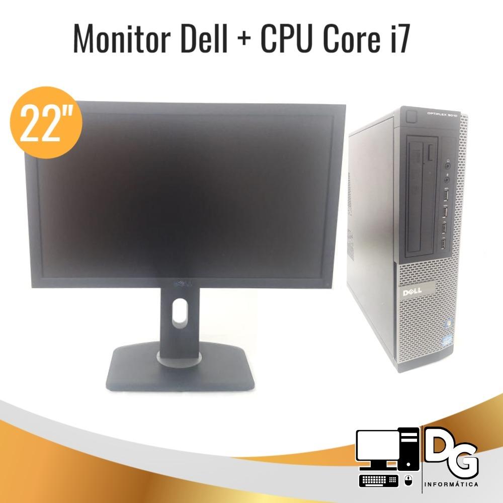 Kit Dell Cpu Core I7 Monitor 22'',teclado E Mouse Últimos!