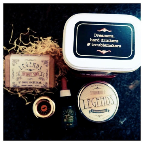 kit deluxe para barba y pelo legends con neceser!! pomade