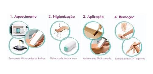 kit depilação roll-on depil bella oleo lenço loção