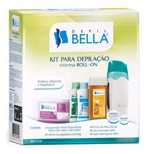 kit depilação sistema roll-on bivolt depil bellla e outros