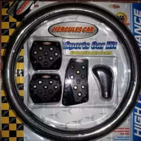 kit deportivo cobertor volante pomo pedales