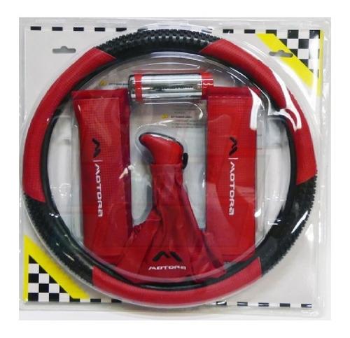 kit deportivo cubrevolante bocha cubre cinturon cufia rojo