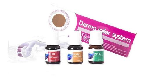 kit dermaroller 0,5mm + vitamina c pura + acido hialuronico