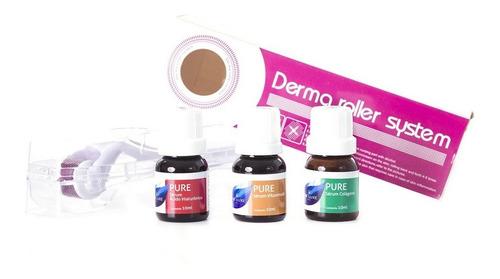 kit dermaroller 1,5mm + vitamina c pura + acido hialuronico