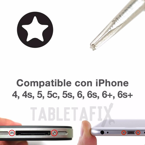 kit desarmador iphone apple herramienta tableta pentalobe 5