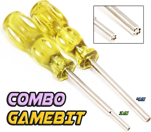 kit desarmadores gamebit el par consolas cartuchos snes n64