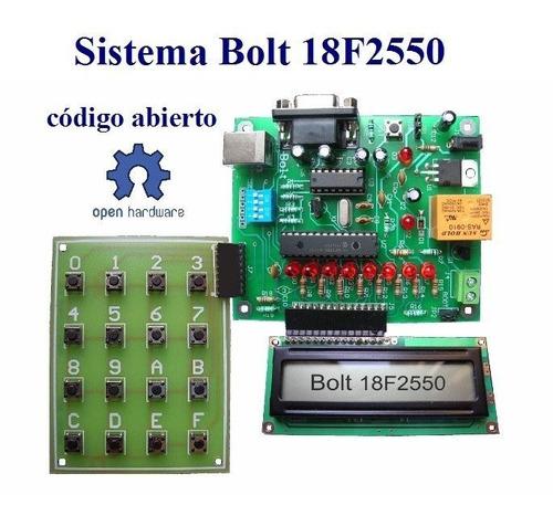 kit desarrollo bolt 18f2550 tarjeta microcontrolador pic