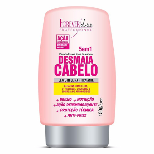 kit desmaia cabelo 950g+ shampoo+ leave-in+ serum 60g