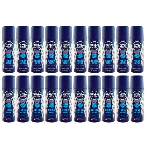 kit desodorante nívea for men fresh active spray 20x90ml