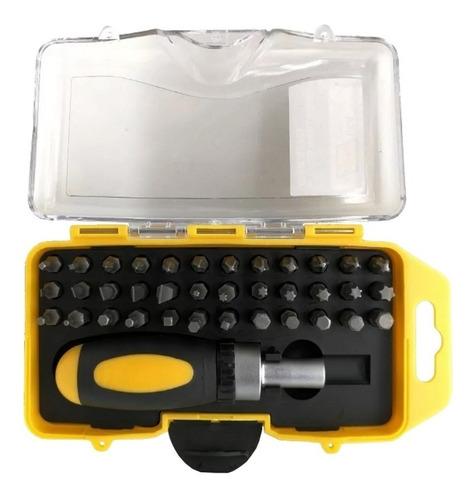 kit destornillador con 37 puntas intercambiables hellux