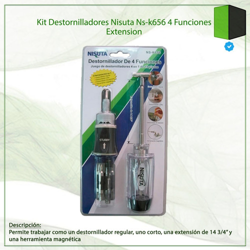kit destornilladores nisuta ns-k656 4 funciones extension