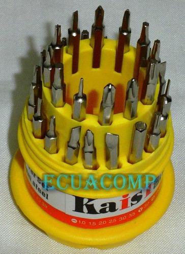 kit destornilladores para electronica, pc, etc 31 piezas ima