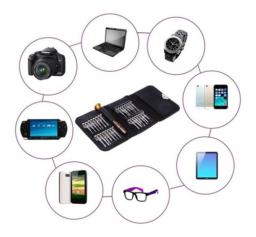 kit destornilladores reparacion celulares puntas imantadas