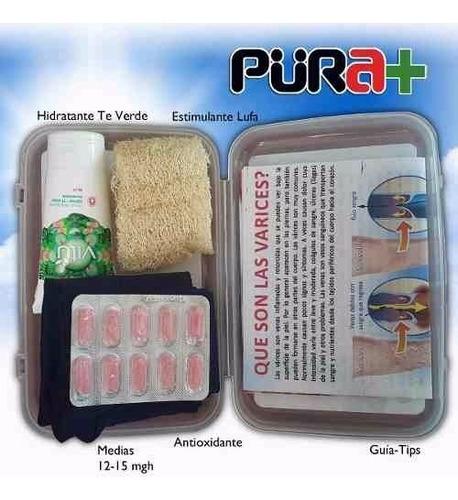 kit destructor varices medias crema pastillas guía 5-en-1