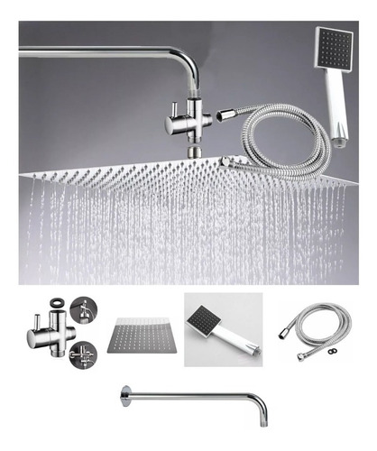 kit desviador ducha , teleducha, manguera, regadera 20-tubo
