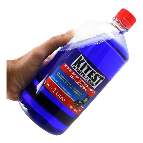 kit detergente + fluido limpeza de injetores kitest