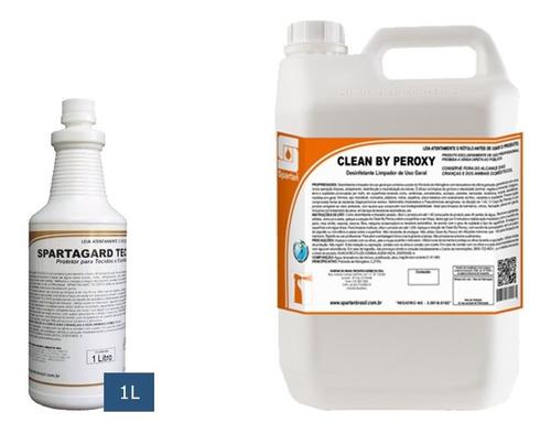 kit detergentes spartagard 1 litro + clean peroxy 5 litros