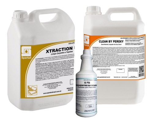 kit detergentes xtraction e spartagard 5 l + 1 finisher 1 l