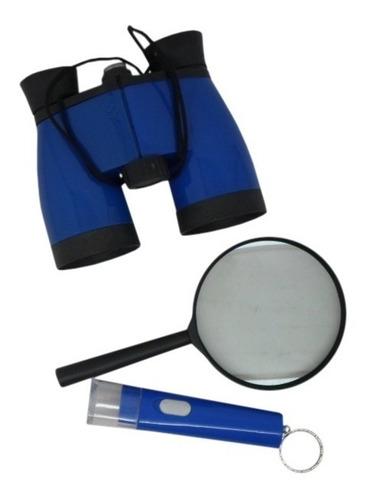 kit detetive binoc,lanterna e lupa 105 pçs (35 kit) (color)