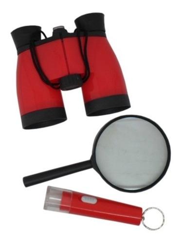 kit detetive binoculo,lant e lupa 90 pçs (30 kit) (colorido)