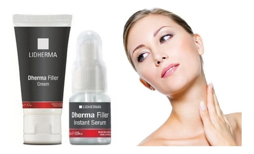 kit dherma filler crema + serum anti age lidherma