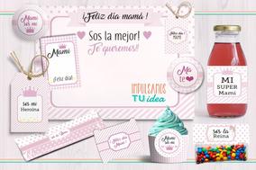Kit Día De La Madre Rosa Para Imprimir