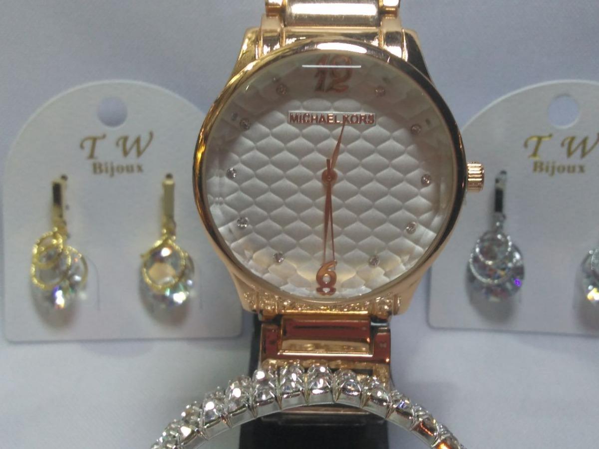 309f6273381 kit dia dos namorado relógio dourado feminino com bijuterias. Carregando  zoom.