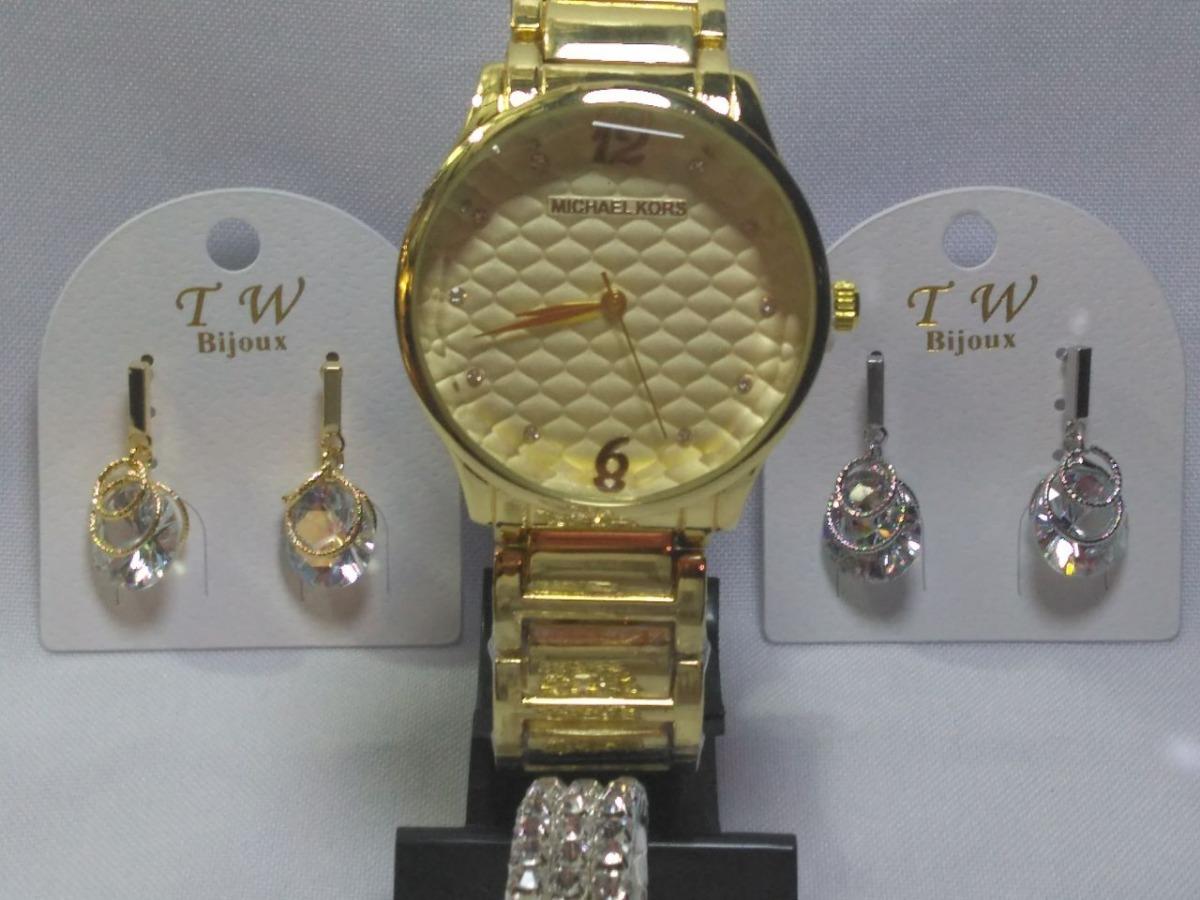 kit dia dos namorados relógio feminino com bijuterias.. Carregando zoom. a9dfb6d28c
