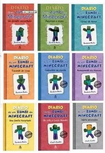 kit diário de um zumbi do minecraft 9 livros capa dura