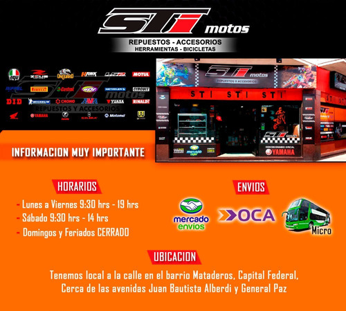 kit did brasil honda cbx 250 twister con oring - sti motos