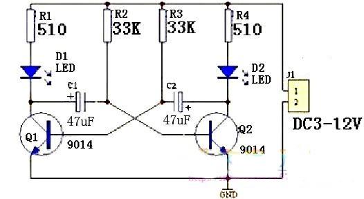 kit did u00e1tico montado oscilador pisca led com transistor