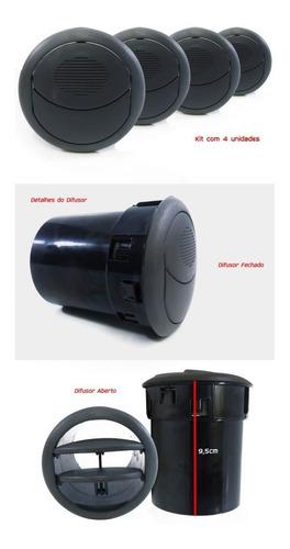 kit difusor ar novo palio g5 2012 doblo - cinza escuro