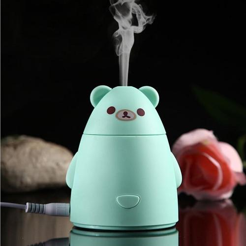 kit difusor humidificador panda y aceite esencial 10ml
