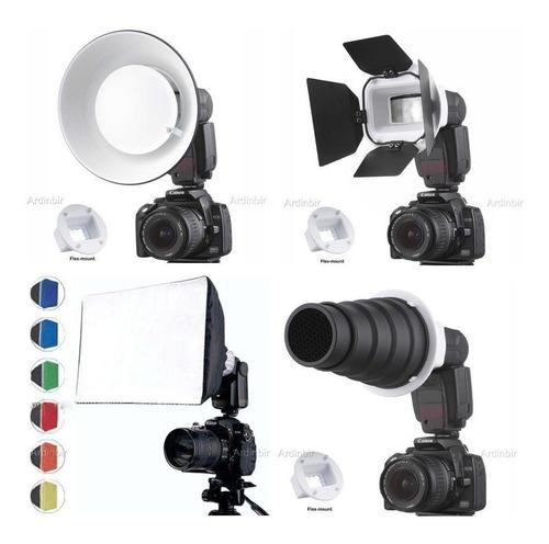 kit difusores de flash + máscaras de colores nikon sigma