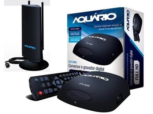 kit digital aquário conversor gravador dtv5000 atena interna