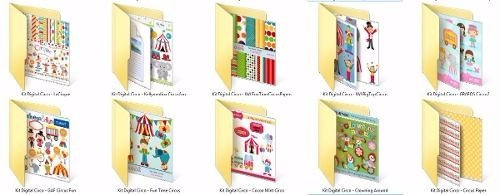 kit digital circo - 724 arquivos - 390mb - envio p/ download